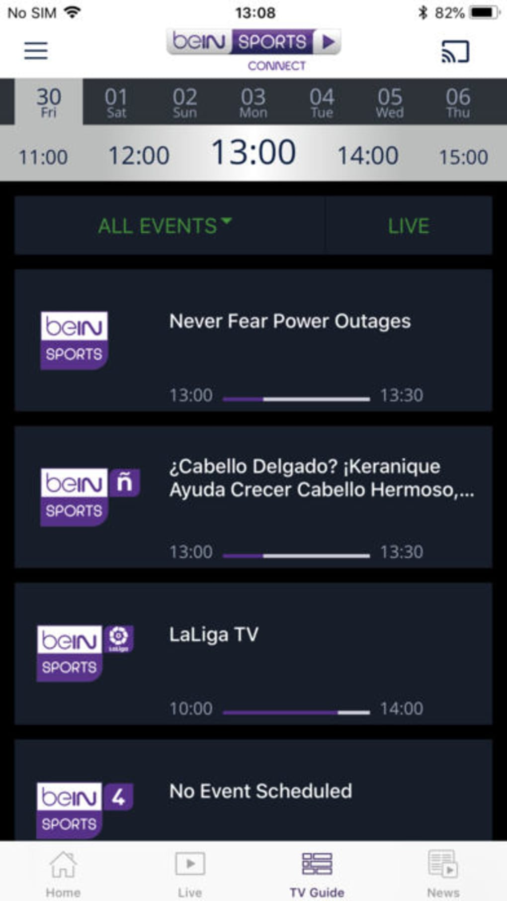 beIN SPORTS CONNECT for iPhone - Download