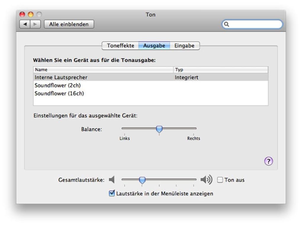 Soundflower für Mac - Download