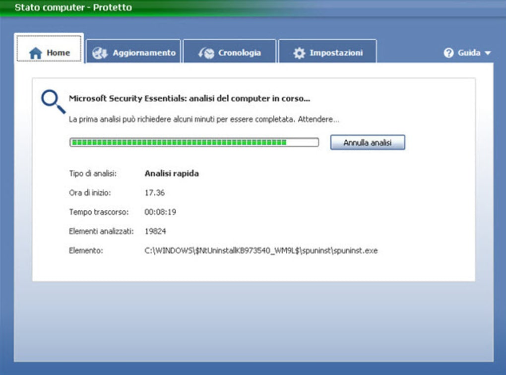 Microsoft security essentials windows 7