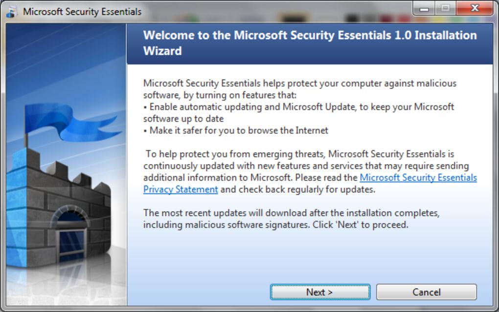 Microsoft Security Essentials - Descargar