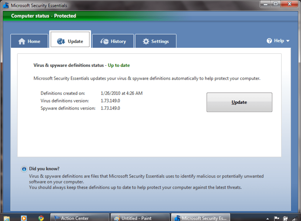 telecharger gratuitement microsoft security essentials pour windows 7 64 bits