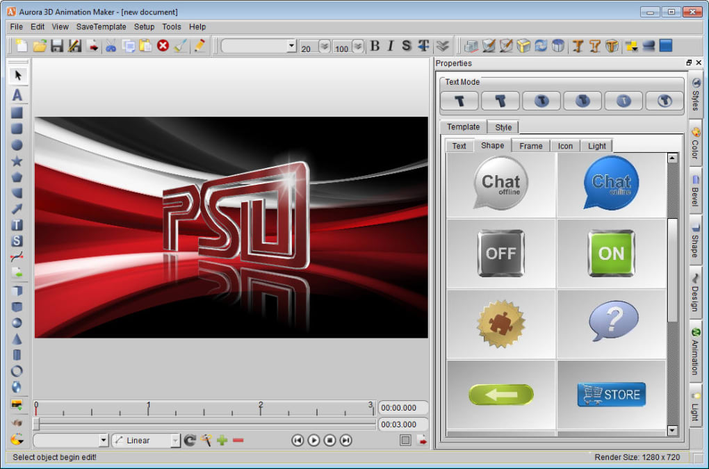 3d animation and movie making software free download