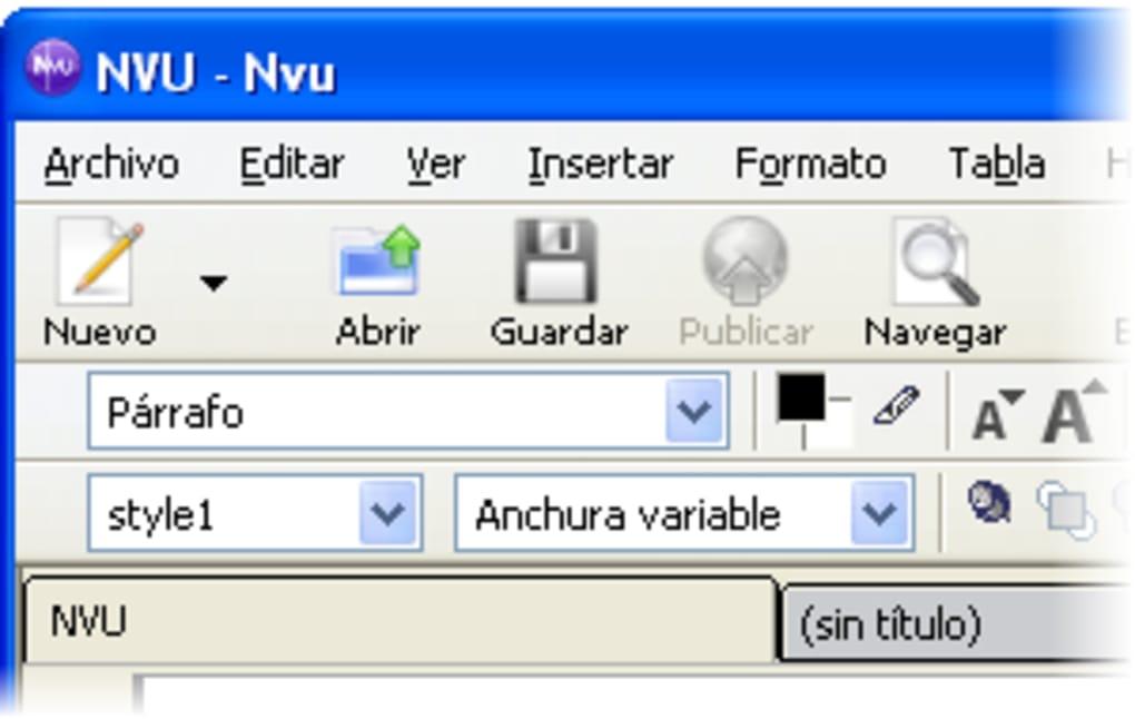 gratis nvu para windows 7