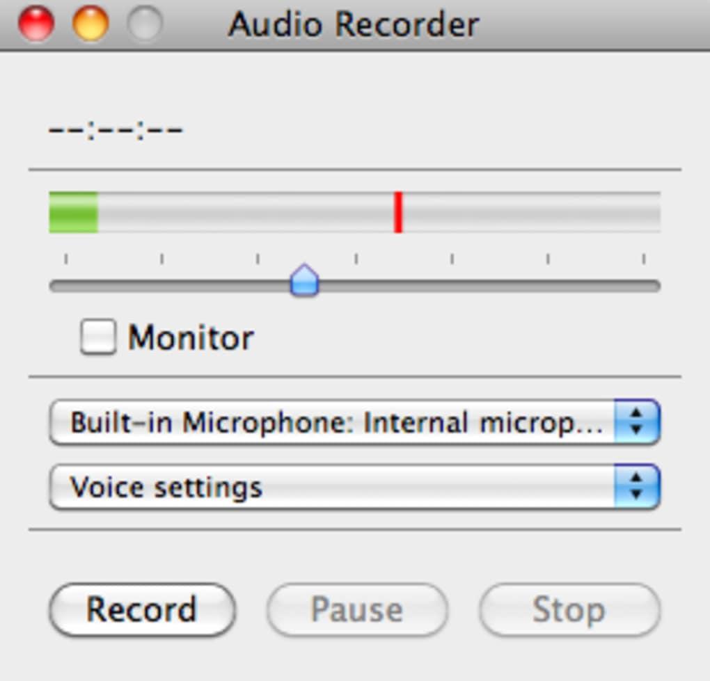 Audio Recorder für Mac - Download