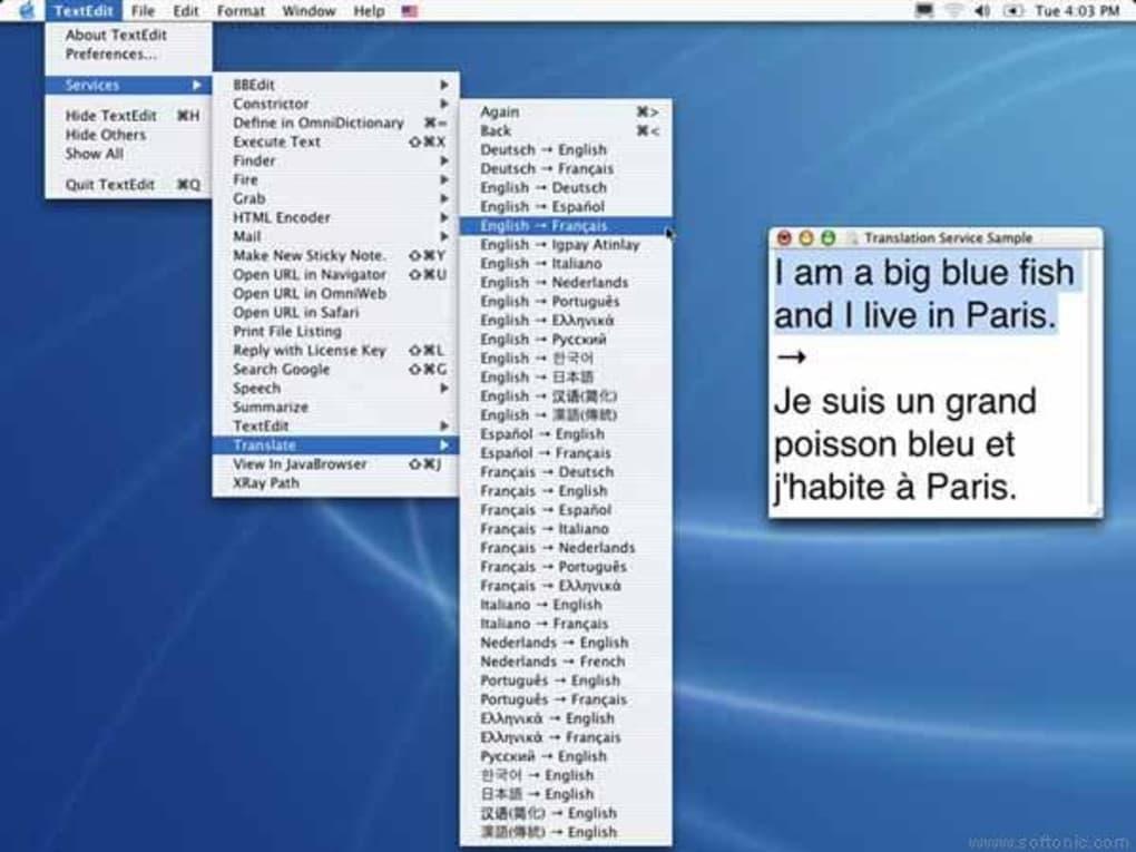 Translation Service for Mac - Download