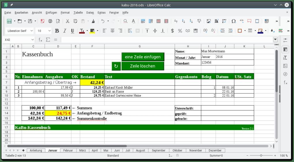 kassenbuch software kostenlos