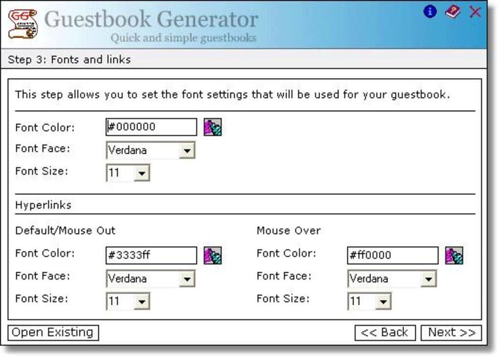 Guestbook Generator 1 3 Screenshots
