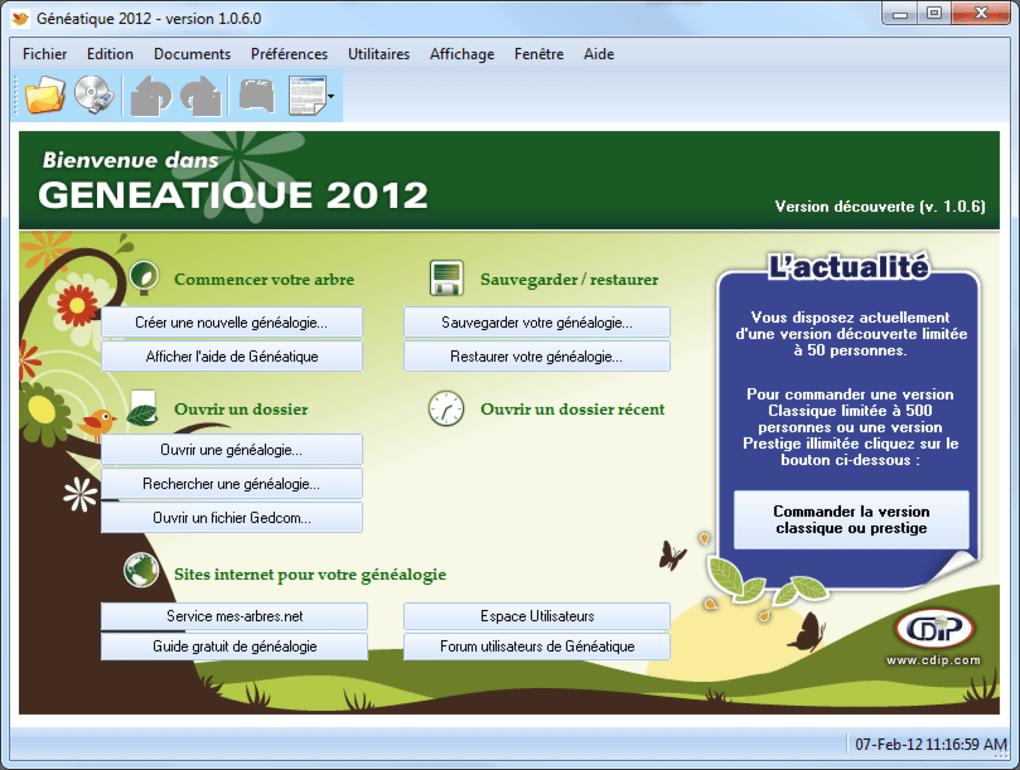 GENEATIQUE GRATUIT TÉLÉCHARGER 2015
