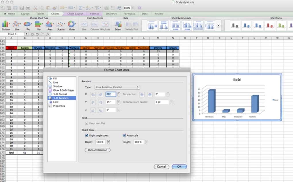 microsoft excel free download for macbook air