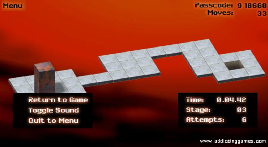 Cool math games bloxorz last level code gamesworld for Portal flash level 9