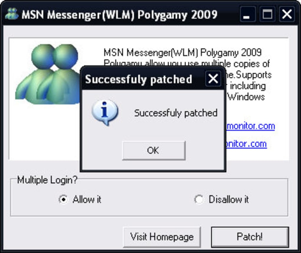 msn polygamy pour windows live messenger 2009