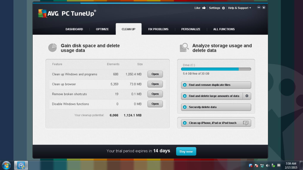 avg pc tuneup 2015 full version free download