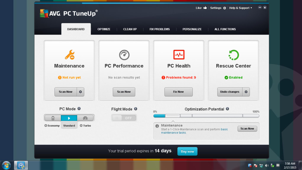 avg pc tuneup trial version download