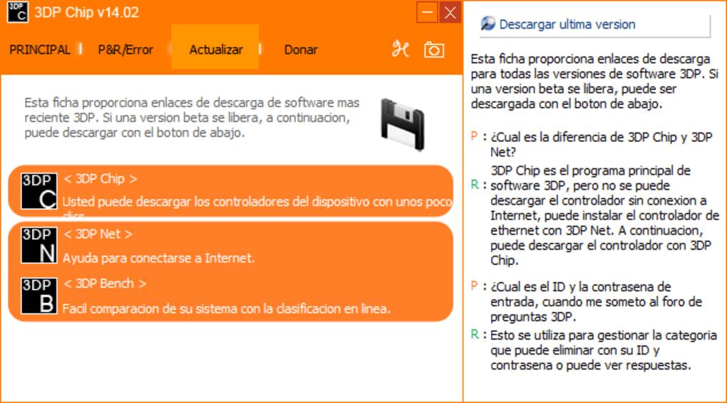 descargar 3dp chip windows 7