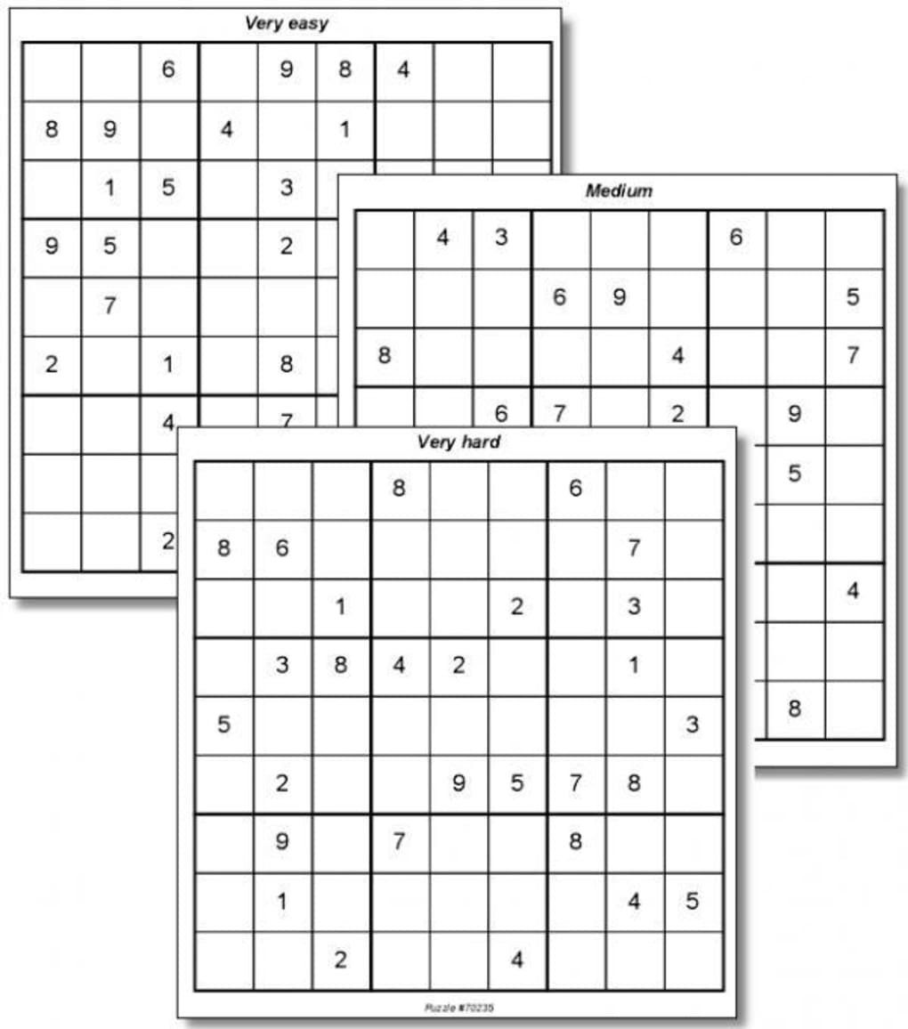 100 Sudoku Puzzles - Download
