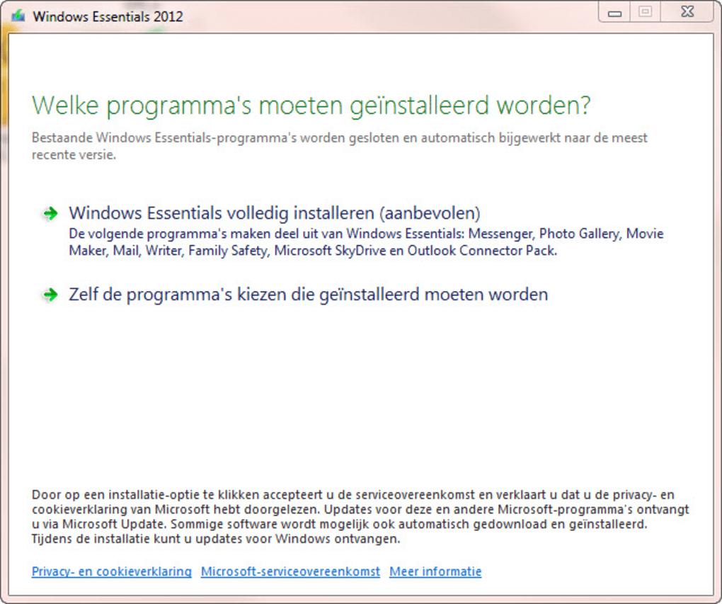 windows essentials 2012 download nederlands