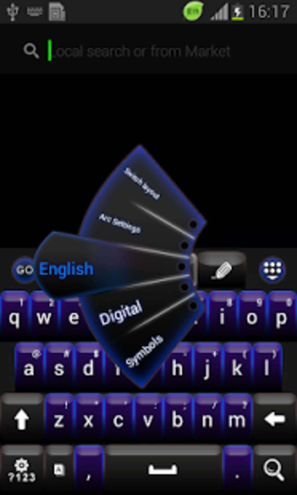 GO Keyboard Negro Tema