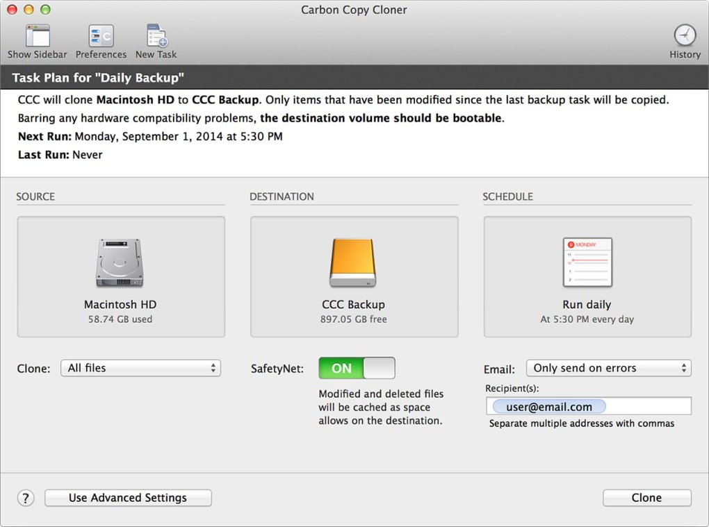 Carbon copy cloner 5 1 mac