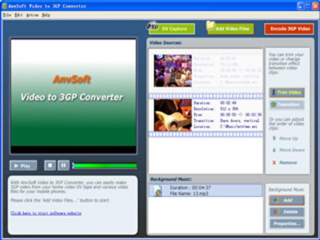 anvsoft video to 3gp converter