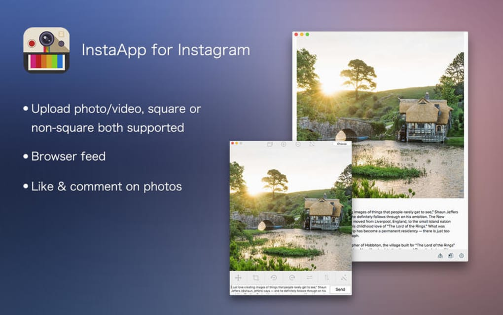 InstaApp for Instagram - Upload photos & videos for Mac - Download