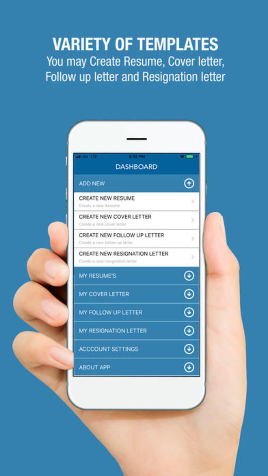 free resume builder cv maker for iphone download