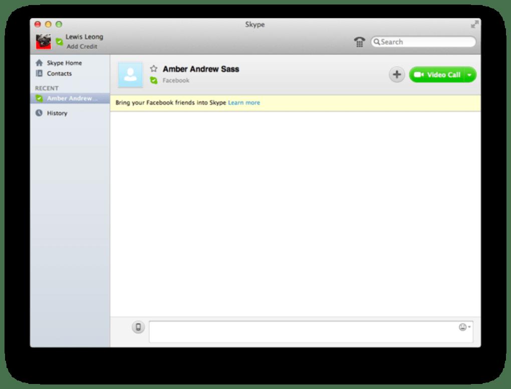 skype pour mac os x 10.6.8 gratuit