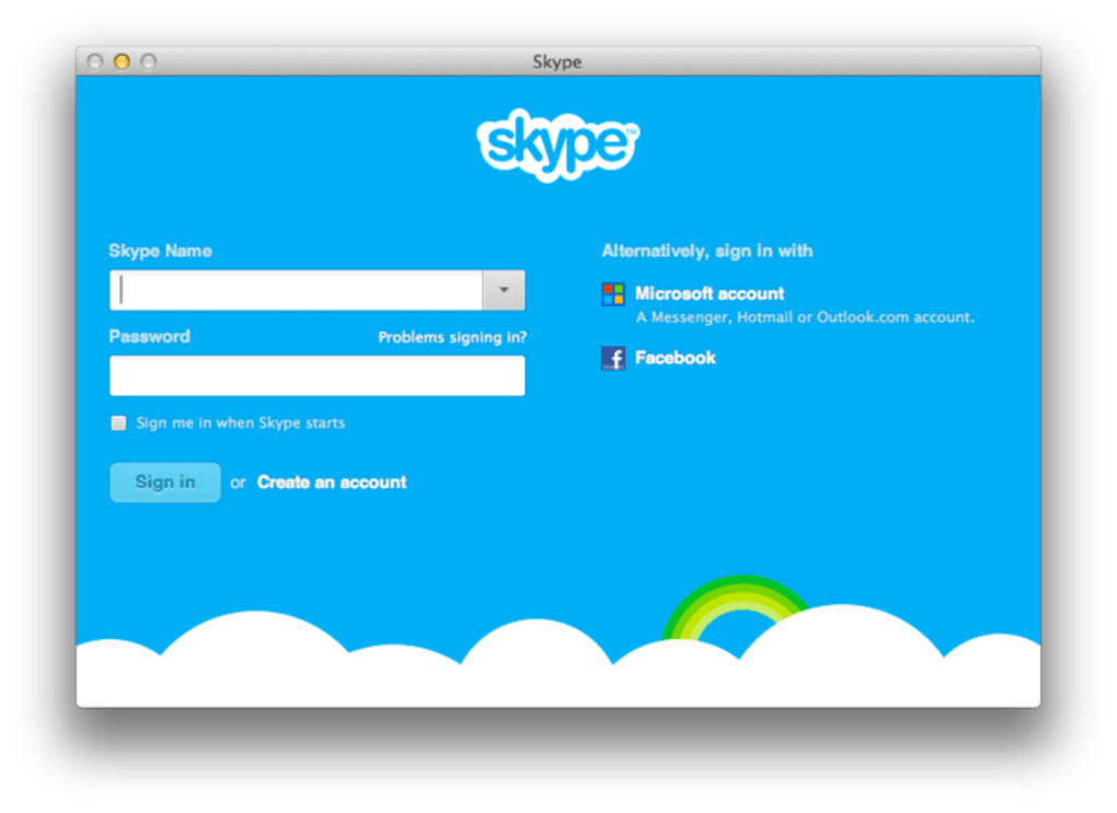 skype pour mac version 10.6.8