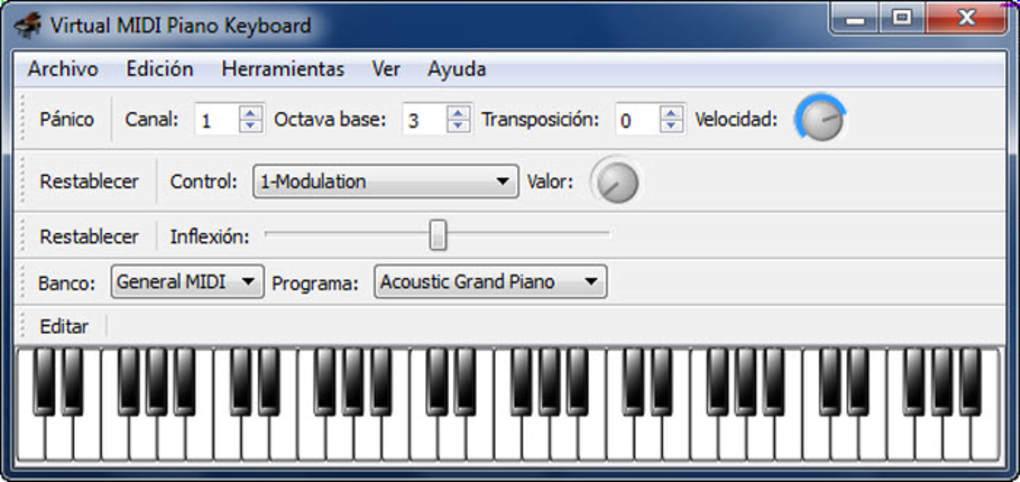 Virtual Midi Piano Keyboard - Télécharger