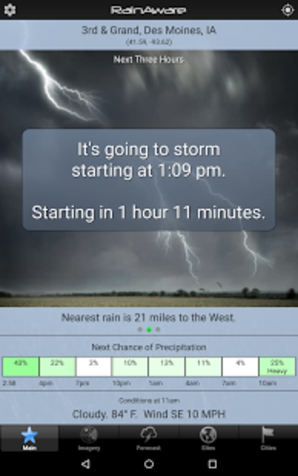 RainAware Weather Timer for Android - Download