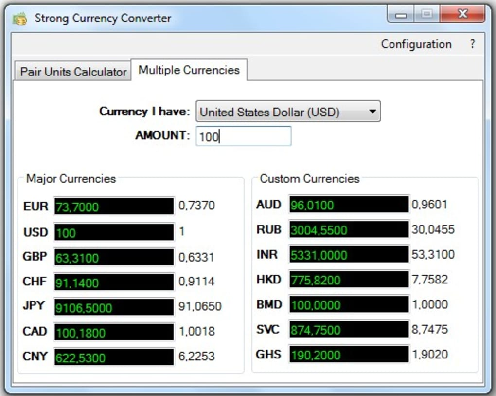 Tool For Getting Up To Date Exchange Rates Strong Currency Converter