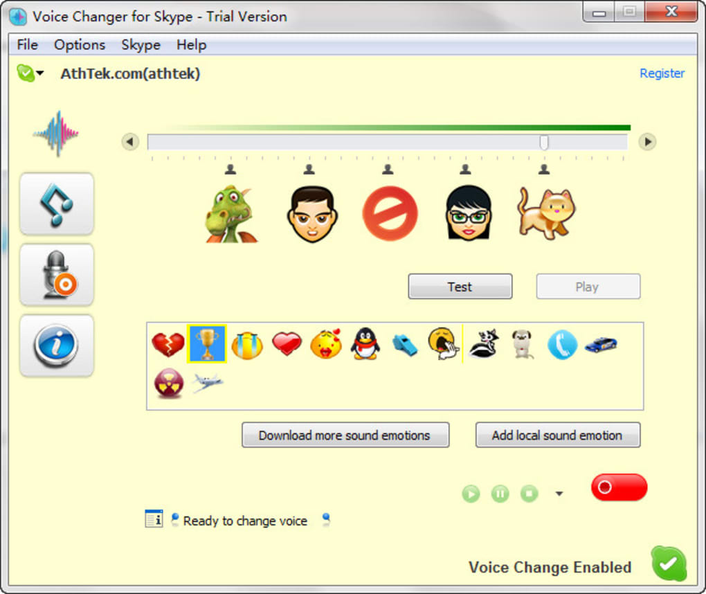Athtek skype voice changer download.