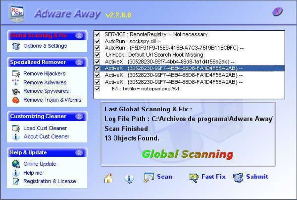 Adware away download.