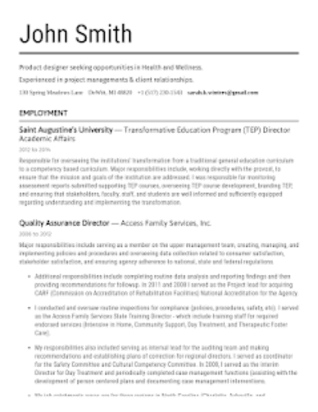 Resume Builder App Free - PDF Templates CV Maker for Android ...