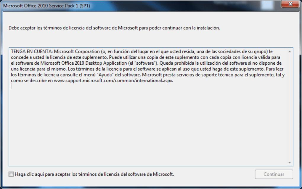 descargar service pack 2 para office 2010 64 bits