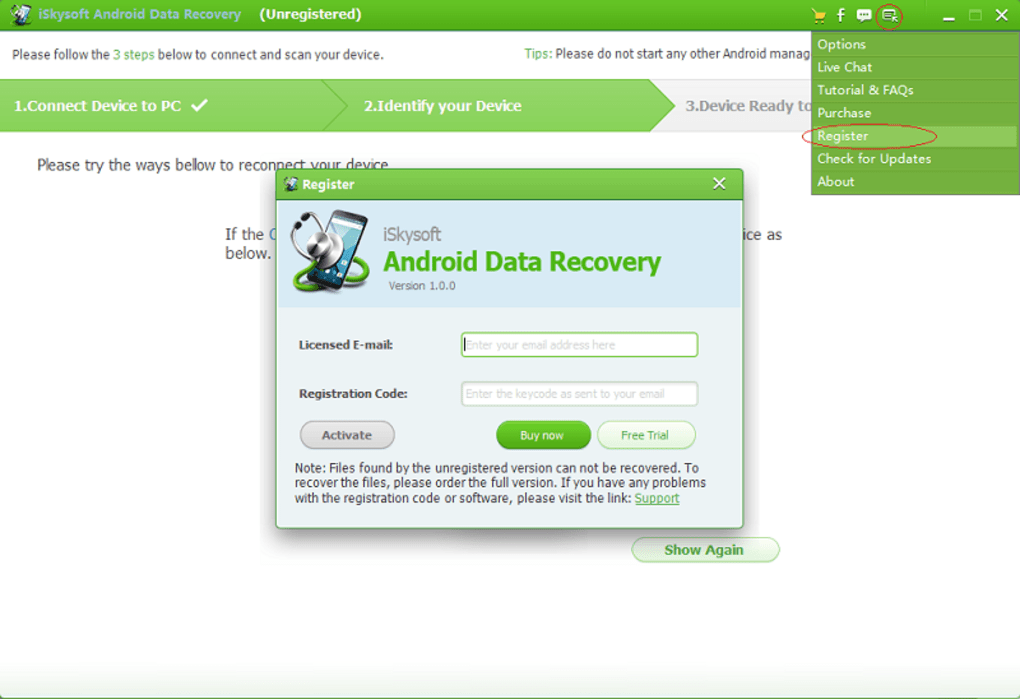 iSkysoft Android Data Recovery - Download