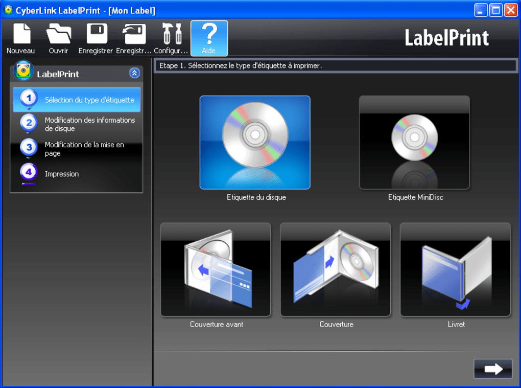 cd labelprint gratuit