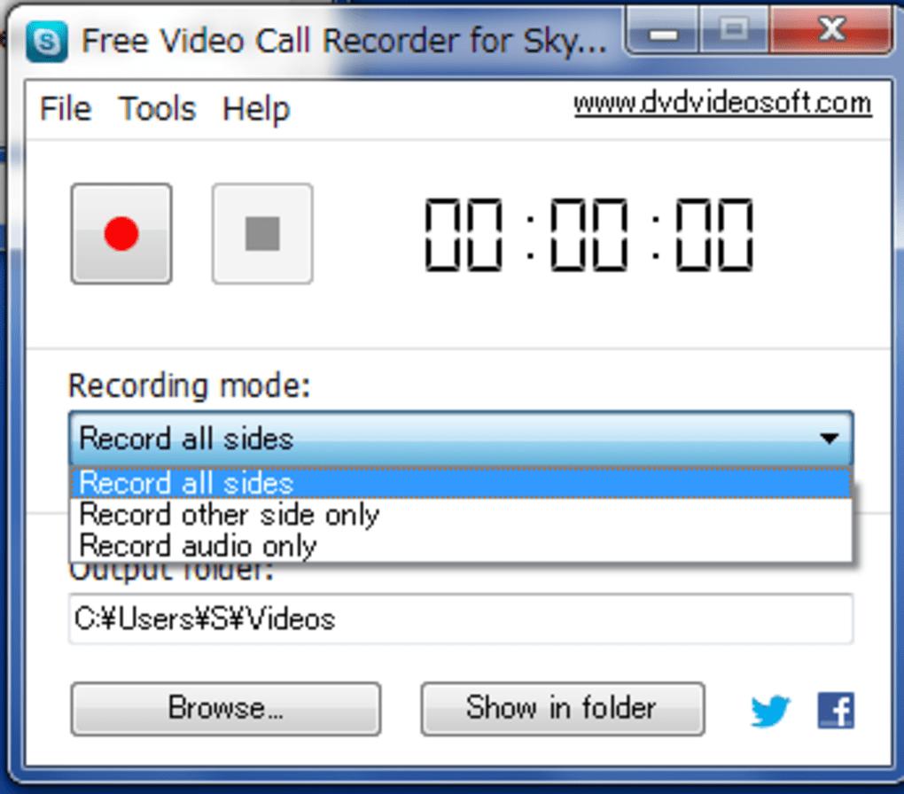 通話録音方法⇒「Free Video Call Recorder for Skype …
