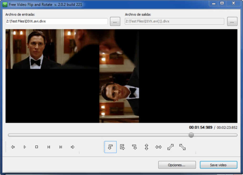 como girar un video con free video flip and rotate