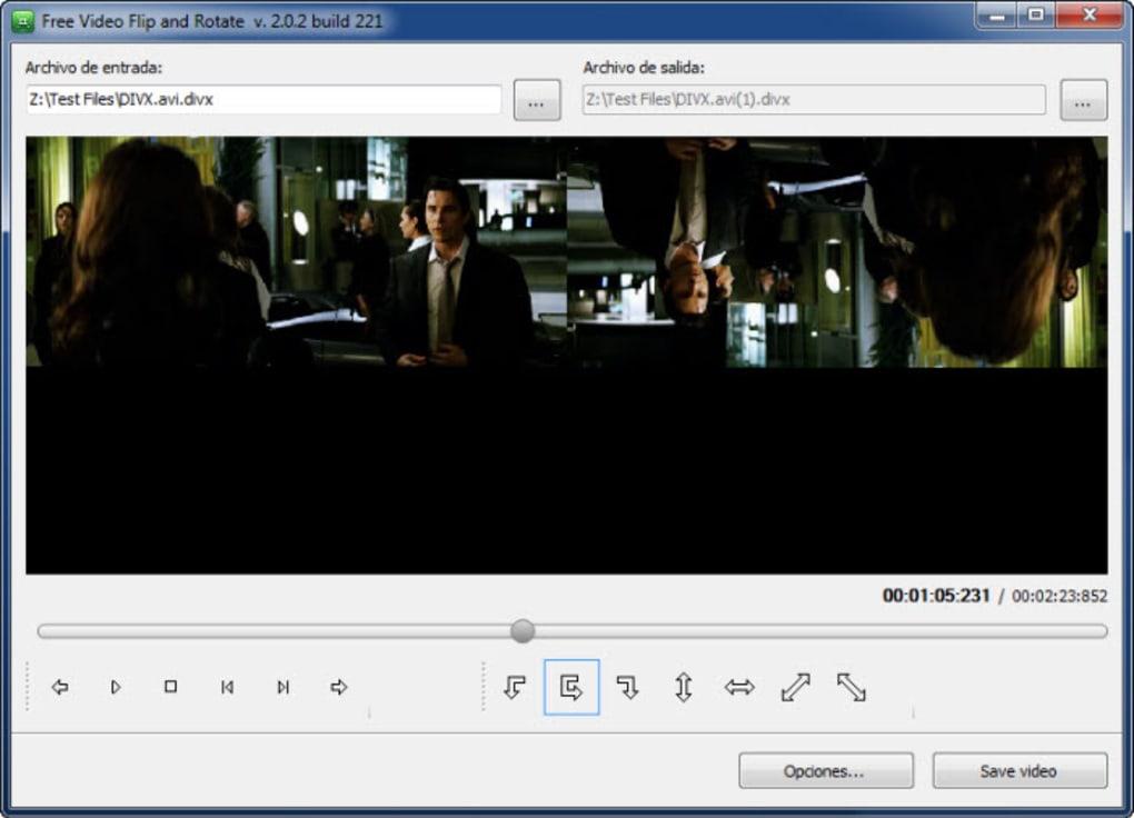 como girar un video con free video flip and rotate