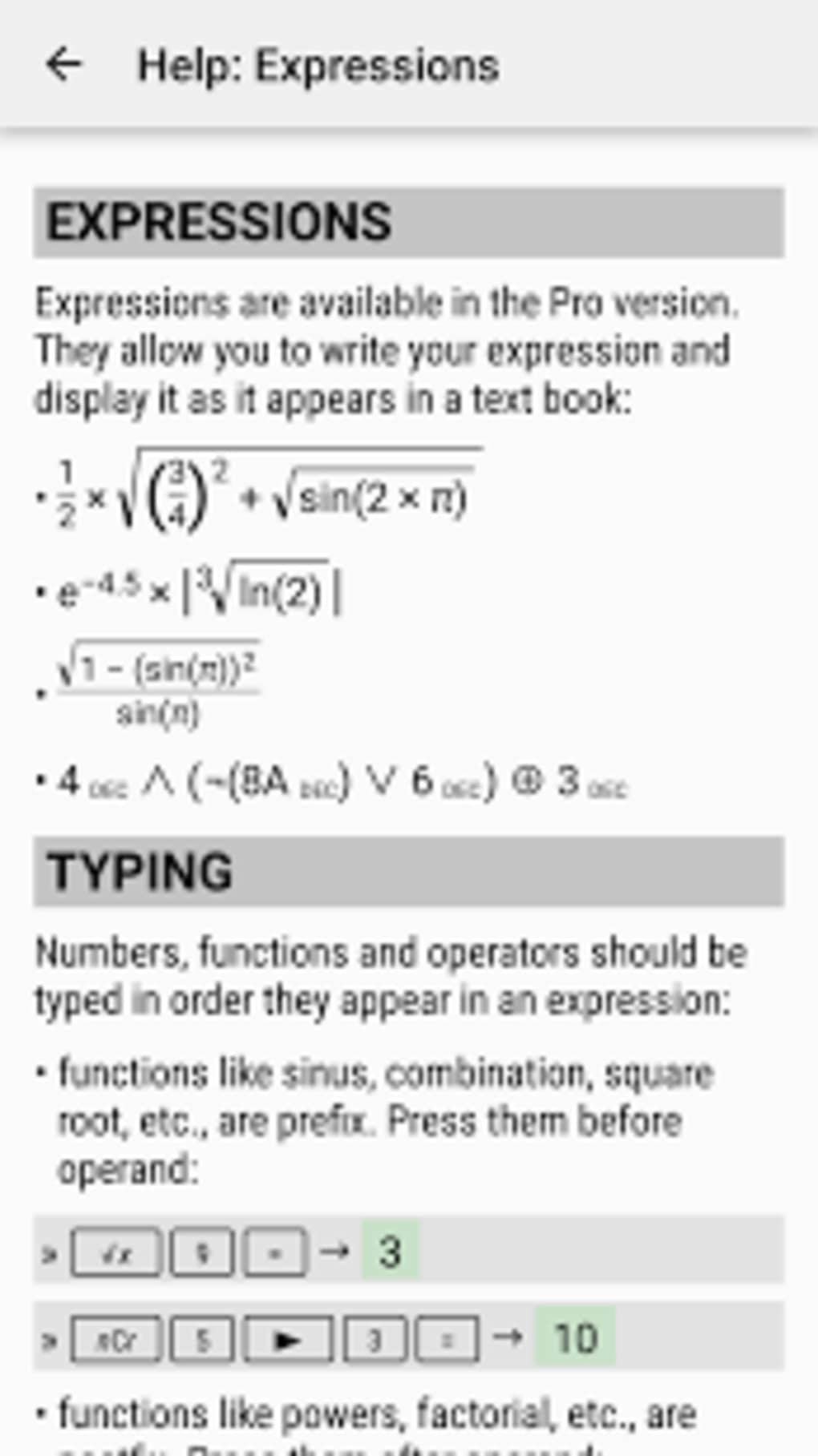 HiPER Scientific Calculator for Android - Download