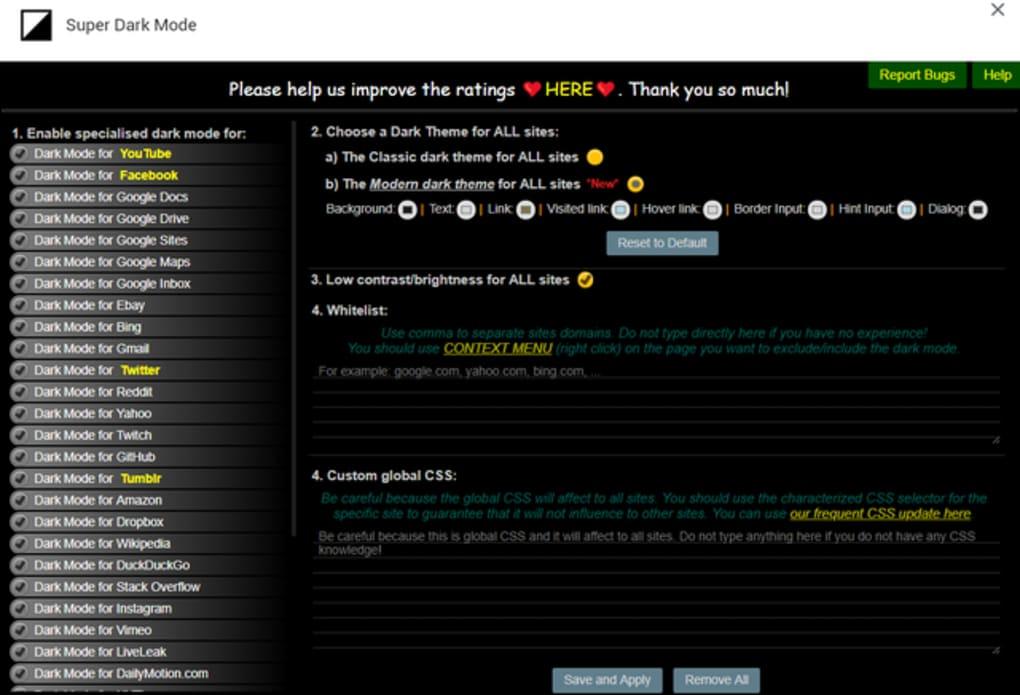 Super Dark Mode for Firefox - Download