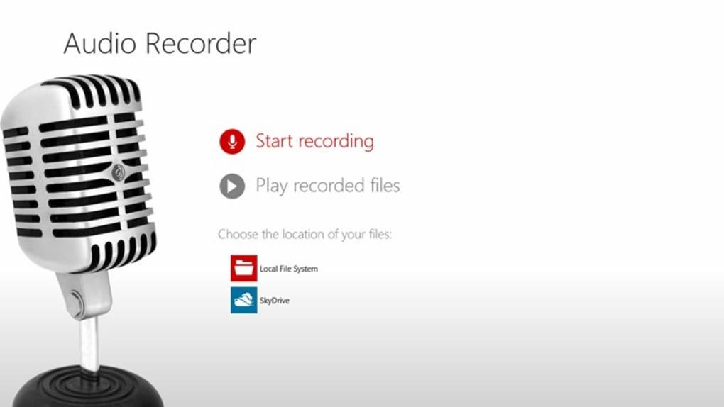 audio recorder windows 10