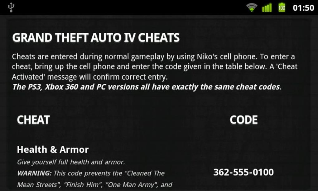 gta iv cheat codes pc