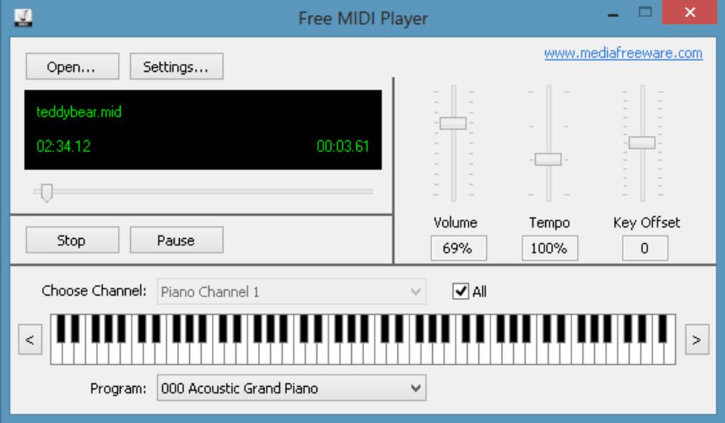 Free Midi Player - Download