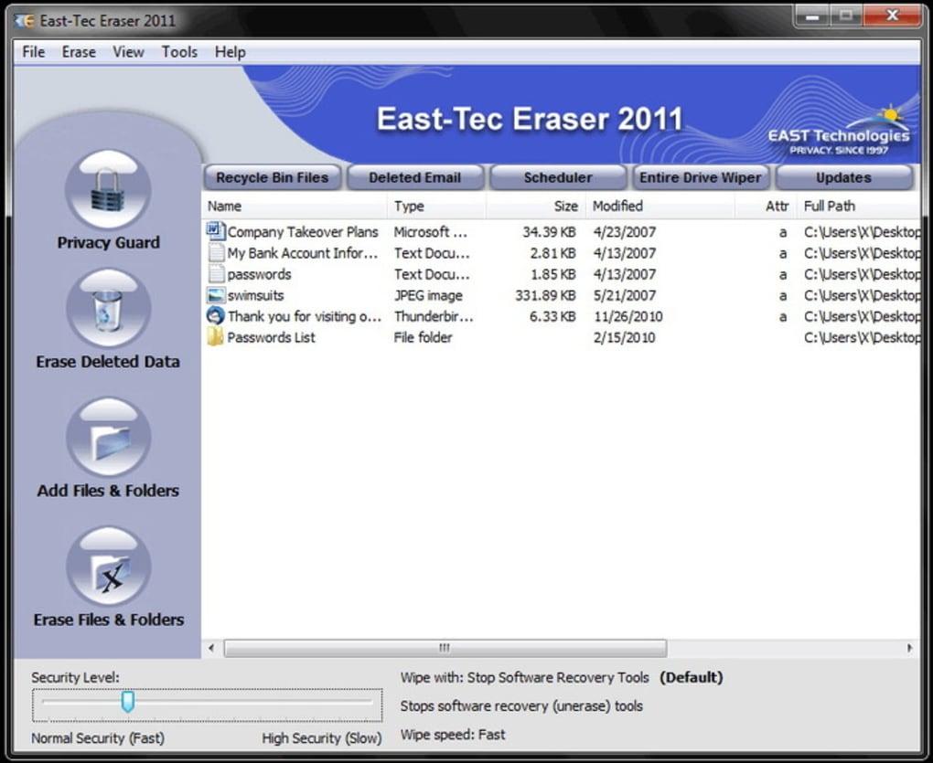 east-tec eraser gratuit