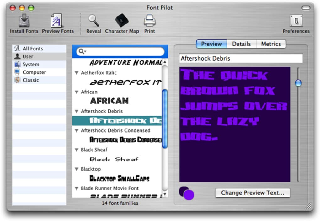 Font Pilot for Mac - Download