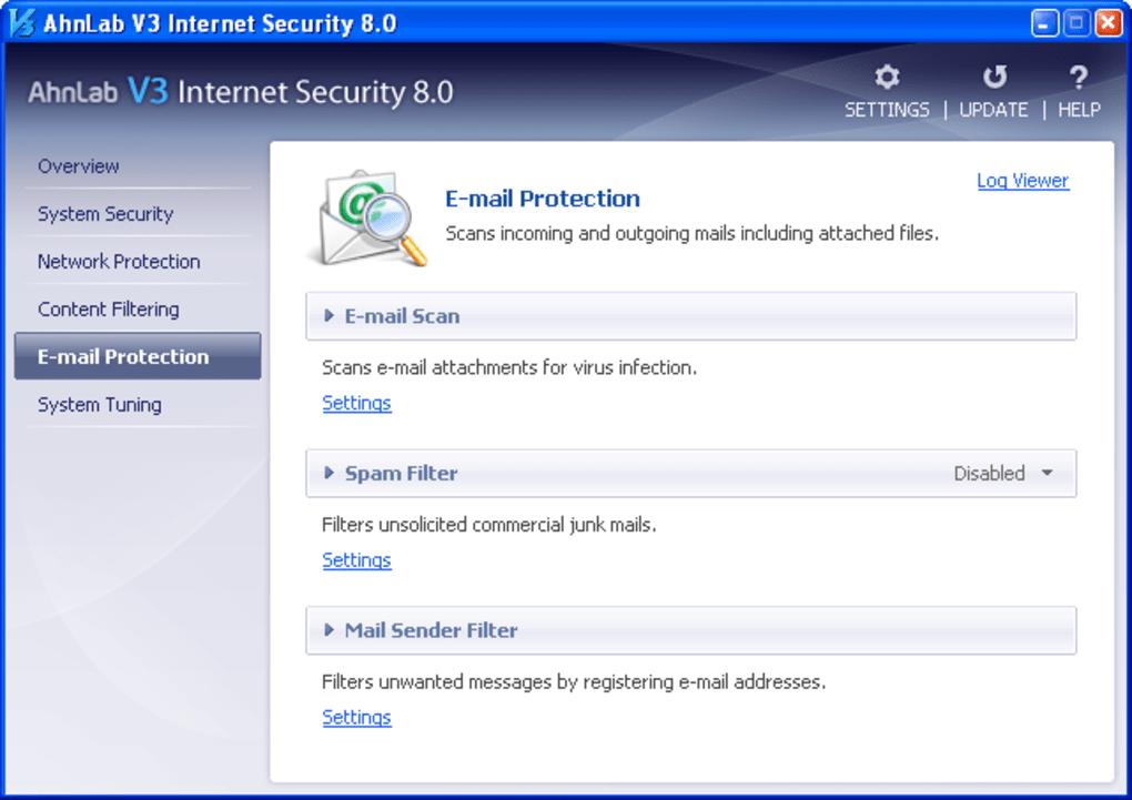 Download AhnLab V3 Internet Security   Build 1398