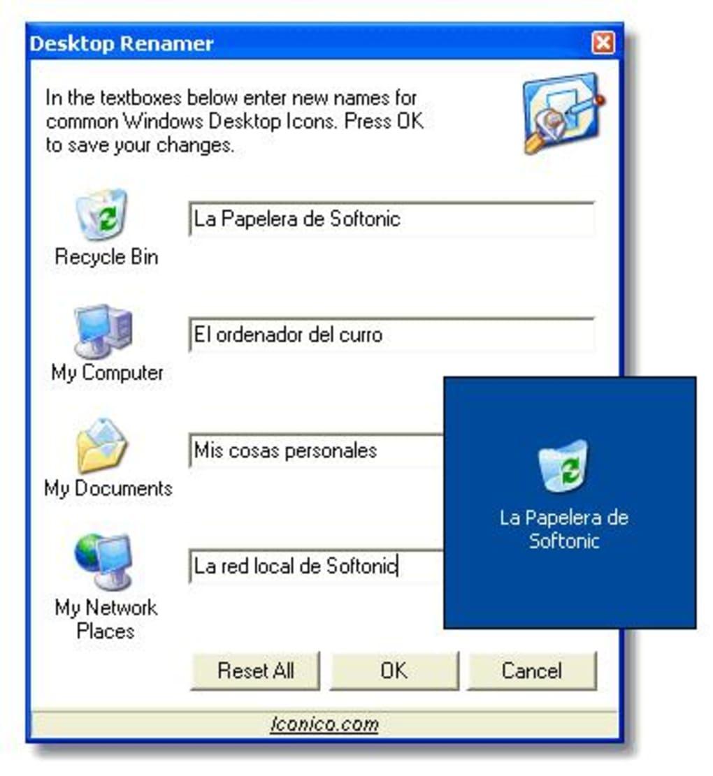 Desktop Renamer - Download