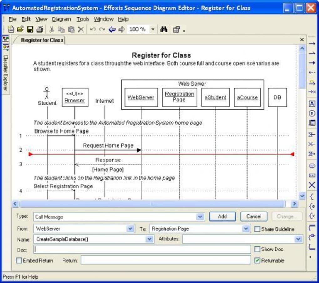Sequence Diagram Editor