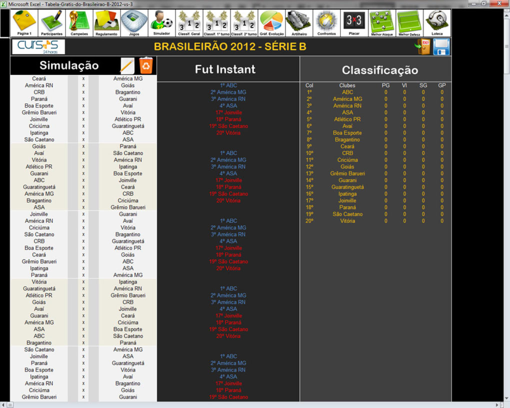 Tabela Do Brasileirao 2012 Download